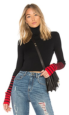 TOMMY X GIGI Crop Rib High Neck Sweater