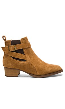 Rigby Bootie in Whiskey Velvet Suede
