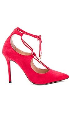Tony Bianco Damzell Heel in Red Kid Suede