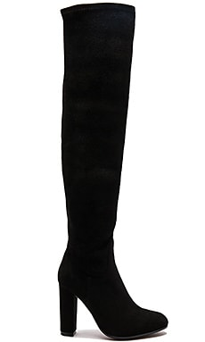 Taj Boot in Black Stretch Suede