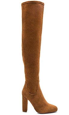 Tony Bianco Taj Boot in Malt Velvet Suede