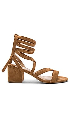 Amor Heel in Sienna Kid Suede