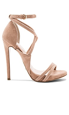 Alita Heel in Blush Kid Suede