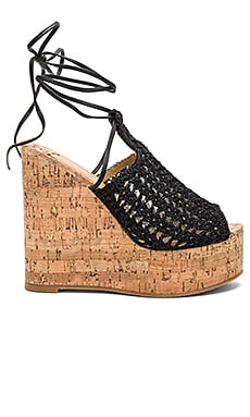 Beliba Wedge in Black Mesh