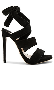 April Heel in Black Suede