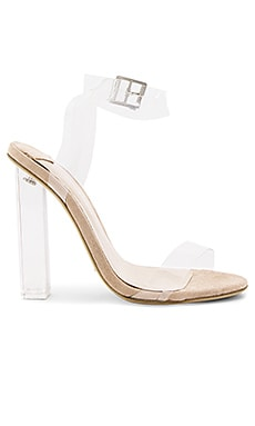 Kiki Heel in Clear Vynalite & Blush