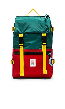 TOPO DESIGNS Rover Pack in Red & Teal