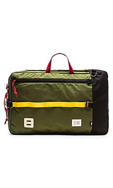 TOPO DESIGNS Travel Bag in Olive & Black