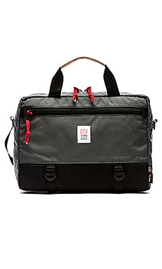 TOPO DESIGNS Commuter Briefcase in Black & Charcoal
