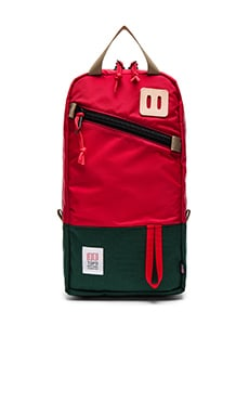 TOPO DESIGNS Trip Pack in Forest & Red