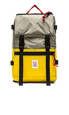 TOPO DESIGNS Rover Pack in Yellow & Silver