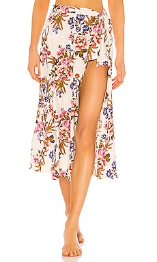 Kayla Hollywood Floral Cover Up Skirt Tori Praver Swimwear $81