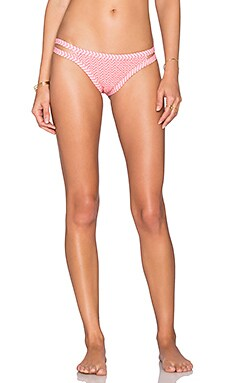 Tori Praver Swimwear Peahi Bikini Bottom in Ziggy Hibiscus