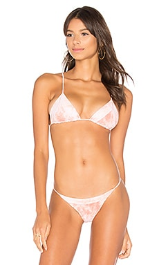 Lahaina Triangle Bikini Top in Coral Dust