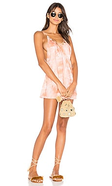 Lana Romper in Coral Dust