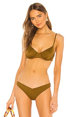 X REVOLVE Emery Underwire Bikini Top Tori Praver Swimwear $77