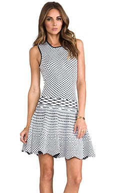 Torn by Ronny Kobo Liza Dress in White/Black