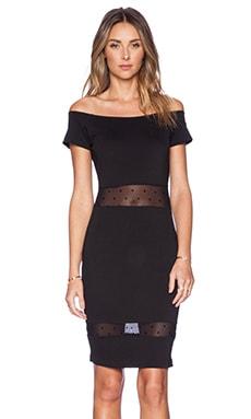 Torn by Ronny Kobo Devon Polka Dot Dress in Black