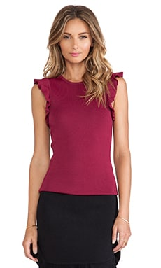 Torn by Ronny Kobo Paola Top in Burgundy