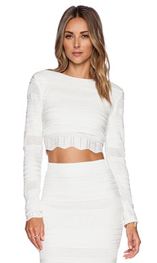 Torn by Ronny Kobo Arielle Top in White