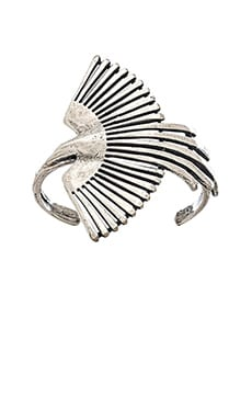 TORCHLIGHT Side Thunderbird Cuff in Antique Silver