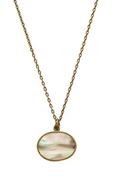 TORCHLIGHT Flip 18'' Necklace in Abalone & Brass