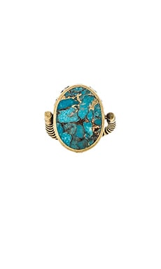 TORCHLIGHT Flip Ring in Turquoise & Brass