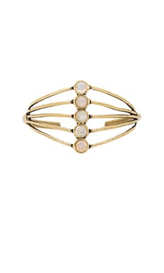 TORCHLIGHT Cassiopeia Cuff in Antique Brass & Moonstone