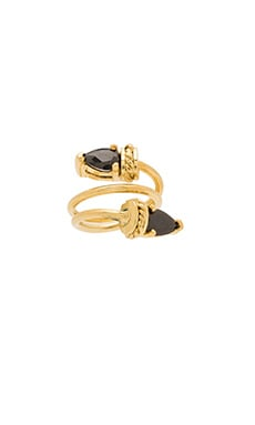 TORCHLIGHT Relection Ring in Gold & Black