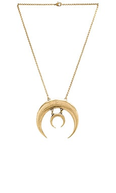 TORCHLIGHT Sacred Moon Necklace in Brass Ox