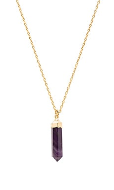 TORCHLIGHT Amethyst Aura Necklace in Gold