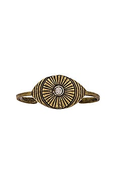 Eye of RA Cuff en Brass Ox