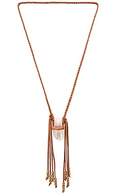 Quartz Vagabond Necklace in Saddle