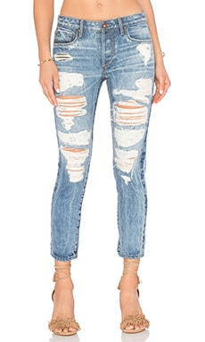 Savanna Distressed Skinny en Medium Glaze