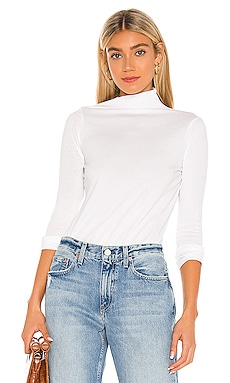 Emma Draped Mock Neck Top TRAVE $101