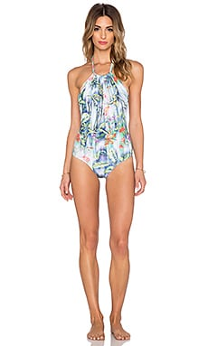 Trejoa Halter Swimsuit in TIger Lily
