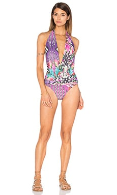 Deep V One Piece in Navi Pink
