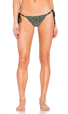 Side Tie Bikini Bottom in Army Leopard