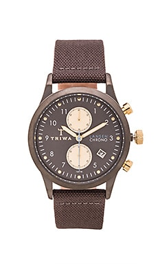 TRIWA Walter Lansen Chrono in Gray Canvas Classic