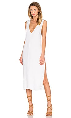 TROIS Otis Linen Dress in White
