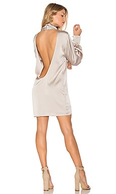 Beverly Silk Dress in Silver