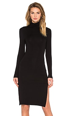 TROIS Mulder Turtleneck Dress in Black