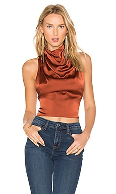 Chandra Silk Top in Rust