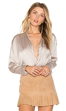 Emma Silk Blouse in Silver