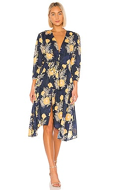 Ainsley Boho Dress Birds of Paradis by Trovata $112