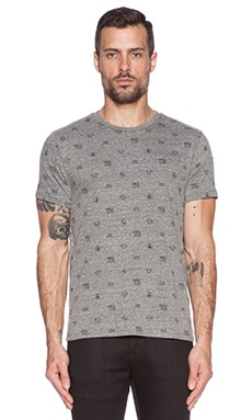 True Religion Monogram Tee in Heather Grey
