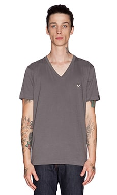True Religion V-Neck in Pavement