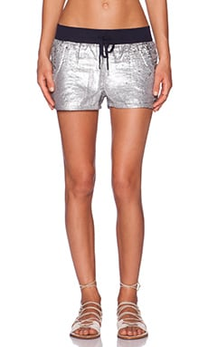 True Religion Sequin Runner Short in Midnight