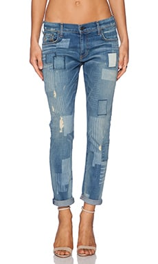 True Religion Audrey Patchwork Boyfriend in Wondering Traveler