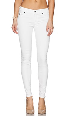 True Religion Casey Skinny with Flaps in Optic White